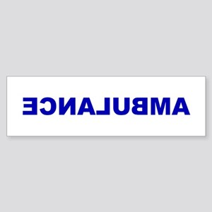 AMBULANCE [backward] Bumper Sticker